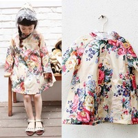 Fashion Lovely big flower kids girls raincoat