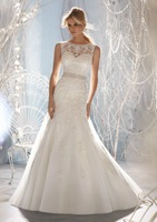 2014 New Fashion Beaded On Lace Appliques Mermaid Wedding Dress From China Supplier s0223