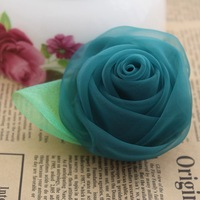 Free shipping~100% handmade DIY beauty rose flowers,Hair accessories,Hair flowers WITHOUT clip(SG001)