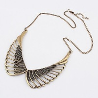 2013 new boutique fashion bohemian Europe exaggerated retro sweater chain delicate angel wings