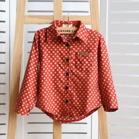 The new autumn 2013 male and female children's wear long sleeve shirt  21A12
