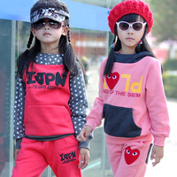 Colorful pig children's clothing trend 2013 spring and autumn child sports sweatshirt twinset female child set autumn