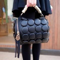 2014 button exquisite small bucket bag buttons large vintage tote bag messenger bag handbag women's
