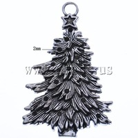 Free shipping!!!Zinc Alloy Christmas Pendants,Supplies For Jewelry, Christmas Tree, antique silver color plated, nickel