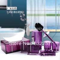 PMMA Bathroom set acrylic bathroom seven piece set gift bathroom toiletries high quality Bathroom Products