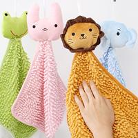 animal chenille hanging towel wipe towel cartoon animal hand towels cleaning towel Handkerchief bathroom kitchen use
