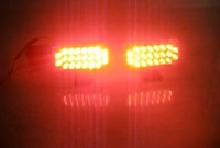2 PCS  2x22LED 44LED Car Truck Boat 2mode Strobe Lights RED