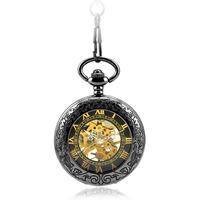 Free shipping (4pcs/lot)new style Flower pattern printed Machinery pocket watch. 37.5cm chain
