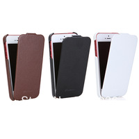 Free shipping   Slim Genuine Leather Case Cover Fashion Flip real leather case for iPhone 5 5G  P3