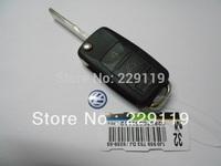 Free shipping VW 3+1 Square Uncut flip folding car key blank shell  for  BEETLE JETTA PASSAT GOLF GTI TIGUAN POLO Volkswagen