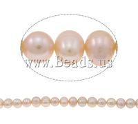 Free shipping!!!Potato Cultured Freshwater Pearl Beads,korean, natural, purple, 10-11mm, Hole:Approx 0.8mm