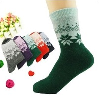 10 double thermal winter socks cotton socks women's wool socks thickening cashmere rabbit wool socks