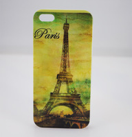 2013 New Eiffel Tower Retro Pattern Hard Rubber Phone Shell Cover Skin Case Cases For iphone 5 5g iphone5