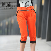 59 ! zipper slim casual female harem pants capris