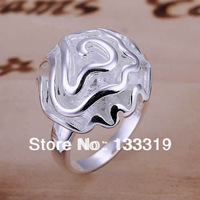Valentine's day gift Sale silver rose ring,finger ring high quality jewelry,fashion  Min.order is $5 (mix order) free shipping