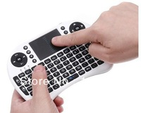 HOT selling! 2.4G Wireless Qwerty wifi keyboard with touch pad Air flying squirrel/mouse for phone/pad/PC/Smart TV Free Shipping