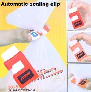 Innovative ideas Manually Snacks sealing clip Preservation buckle Bag Sealer Household Goods free shipping(2pcs/lot)