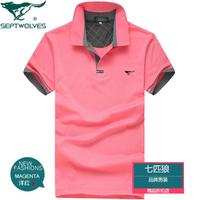 2013 summer SEPTWOLVES men's clothing male short-sleeve T-shirt men's 100% cotton
