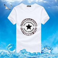 2013 summer five-pointed star t-shirt male short-sleeve o-neck short-sleeve slim T-shirt men's clothing