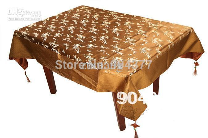 Rectangular Brown Damask Tablecloth Table Covers Embroidered Dining Room Table Cloths Holiday Tablecloths size L 2 x W 1.5 m 1pc(China (Mainland))