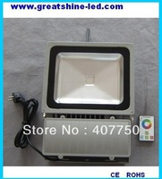 best seller  RF wireless control  rgb  90w led flood light control range 100m used for  high ways lighting