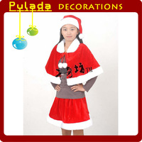 Pulada Decorations *  Christmas clothes women's High-grade dress triangle set,wholesale