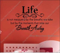 Life Breath Home Decoration Removable Wall Decal Vinyl Stickers DIY Required
