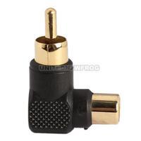 UN2F RCA Male to Female M/F Connector 90 Right-angle Adapter Audio AV Plug