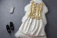 Gold 2013 fashion top bust skirt set