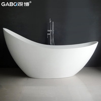 1.86 meters ministering jade bathtub freestanding bathtub artificial ceramic bathtub 8621