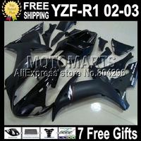 7gifts For ALL Black 02-03 YAMAYA YZF R1 02 03 YZF 1000 YZF-R1 YZF-1000 Flat gloss !! YZFR1 C#100878 YZF1000 2002 2003  Fairing