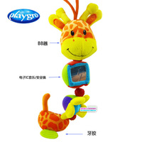 Wholesale new 2013 Playgro Giraffe  Bed Hanging Bell Super Soft Plush  toys Baby Toy Doll baby toys 0-12 months  3pcs/lot