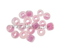 Free shipping!!!Colour Lined Glass Seed Beads,fantasy women jewelry, Round, color-lined, pink, 2x1.9mm, Hole:Approx 1mm