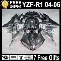 7gifts  ALL Silver grey For YAMAYA YZF R1 04-06 YZFR1 YZF1000 04 05 06 YZF 1000 C#101968 silvery YZF-R1 2004 2005 2006 Fairings