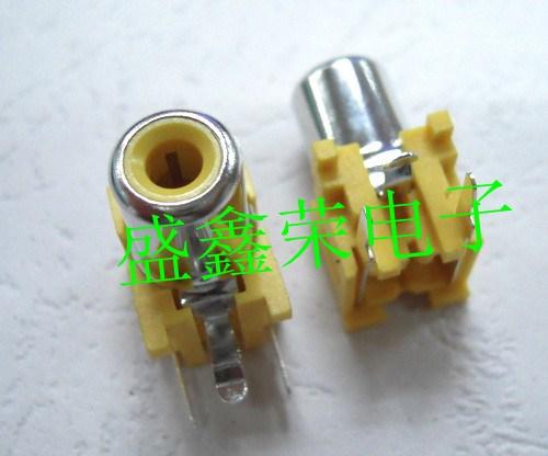 Single hole rca socket lotus socket audio socket av socket yellow 1 bag 500(China (Mainland))