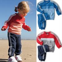New arrival 5sets/lot children sport track suit baby 2pcs set children clothing brand clothes hot sale