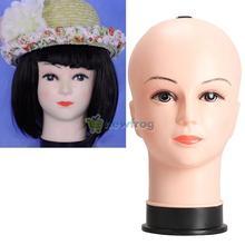 Real Female Mannequin Head Model Wig Hat Jewelry Display Cosmetology Manikin S7N