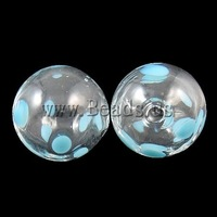 Free shipping!!!Blown Lampwork Beads,2013 new summer, Round, handmade, hollow, 12mm, Hole:Approx 1-2mm, 50PCs/Bag, Sold By Bag