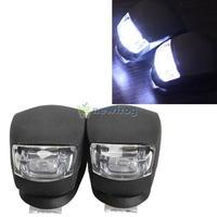 2 Pcs LED Bicycle Light Head Front Rear Wheel Safety Bike Light Lamp Black S7NF