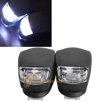 R1B1 2 Pcs LED Bicycle Light Head Front Rear Wheel Safety Bike Light Lamp Black