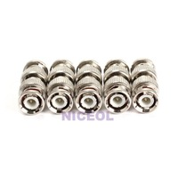 NI5L 5PCS BNC Male to BNC Male Straight Joiner Connector Adaptor Professional