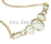 Free shipping!!!Zinc Alloy Jewelry Necklace,Celebrity, with Crystal, zinc alloy lobster clasp, with 6cm extender chain