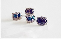 (Mnimum mix order is 10 usd ) vintage owl earrings ! jewery wholesale high quality !Free shipping!