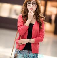 16color 2014 spring/autumn V-neck slim sweater cardigan plus size cardigan coat female air conditioning shirt