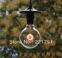 Free shipping Vintage g95 flyspun bulb pendant light quality living room lamps lighting