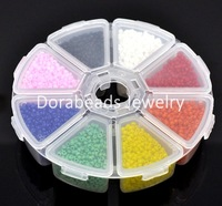 Free Shipping! 100 Gram Seed Beads Jewelry Making 10/0++Storage Box (B12403)