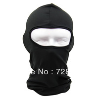 Free Shipping 1pcs Black CS Field Anti-terrorism Put Mask Looting Cap Navy Cap Ski Hat Mask Leica ONE Hole Caps
