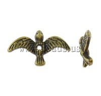 Free shipping!!!Zinc Alloy Animal Beads,2013, Bird, antique bronze color plated, nickel, lead & cadmium free, 17.50x10x3mm