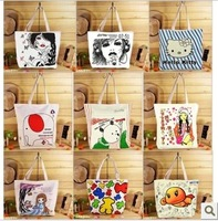 Canvas bag 2013 brief handbag women's handbag letter bag one shoulder bag shopping bag