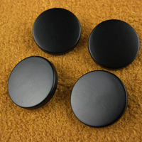 clothing accessories matt black metal button cool vintage fashion tall button overcoat button 50pc/lot freeshipping